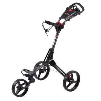 Cube Golf Push Trolley - Charcoal/Black (+Umbrella Holder & Travel Cover)