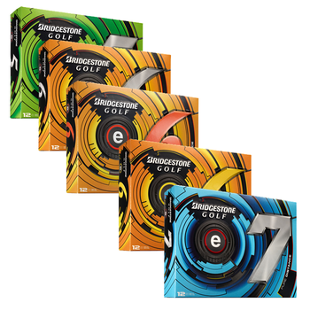 Bridgestone E - Series 12 Dozen Golf Balls Free Personalisation Offer