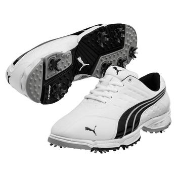 Puma Golf Fusion Sport Golf Shoes - White/Black/Silver - Size: 7