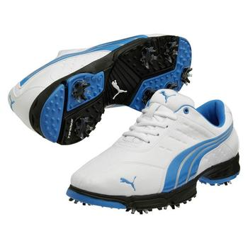 Puma Golf Fusion Sport Golf Shoes - White/Blue - Size: 7