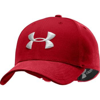 Under Armour Mens Washed Curved Cap Red (1242626-600) (UAH)