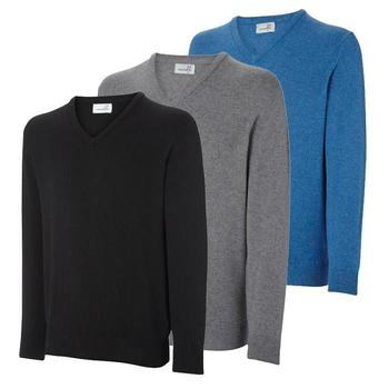 Ashworth V-Neck Lambswool Sweater