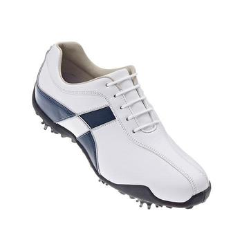 Footjoy LoPro Ladies Golf Shoes (White/Navy) - Size: 8