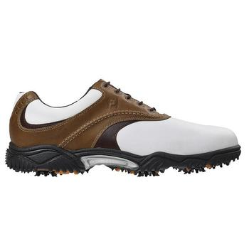 Footjoy Contour Series Golf Shoes White/Taupe - Size: 10