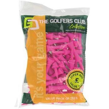 Golfers Club Neon Pink Step Height Tees (Value Pack)