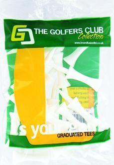 Golfers Club White Step Height Tee (20 Tee Pack)