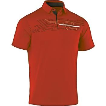Under Armour Graphic Energy Stripe Polo Golf Shirt (1239076) - Fuego/Graphite
