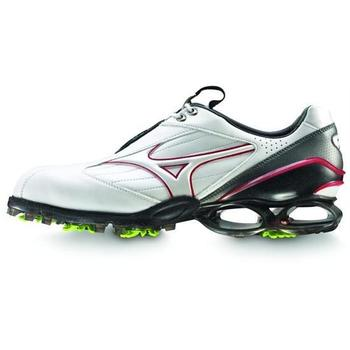 Mizuno Golf Stability Style Shoe White/Red SALE