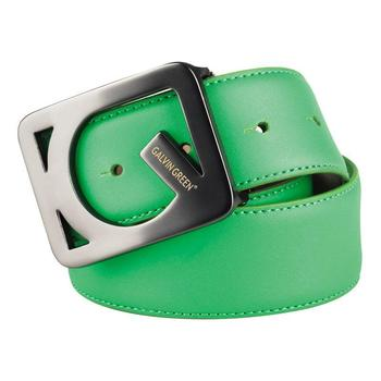 Galvin Green WEB Leather Belt - Spring Green