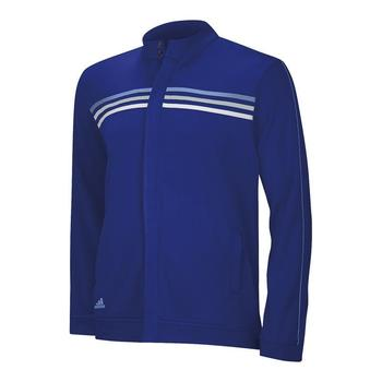 Adidas Junior Climalite 3-Stripe French Terry Full Zip Jacket (AJ1)