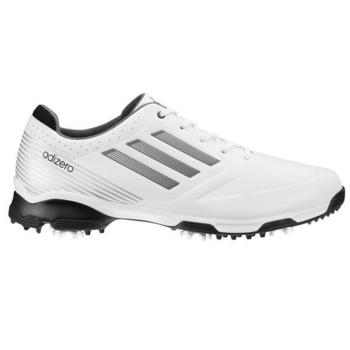Adidas adiZero 6 Spike Golf Shoes White/Black - Wide Fitting SALE