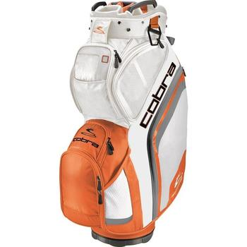 Cobra Golf Bio Cart Bag - White-Vibrant Orange