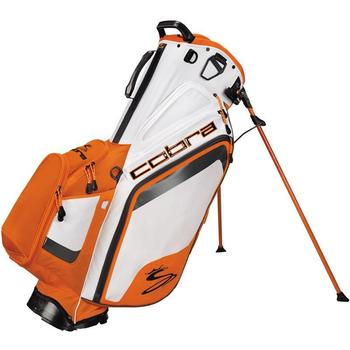 Cobra Golf Bio Dry Stand Bag -Cobra Golf Bio Dry Stand Bag - White-Vibrant Orange