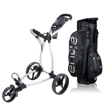 Big Max Blade Golf Push Trolley + Cart Bag Combo