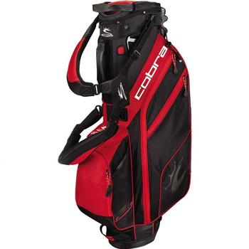 Cobra Golf Excell Stand Bag - Black-Barbados Red