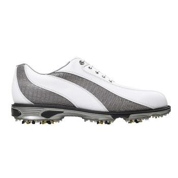 Footjoy Dryjoys Tour Golf Shoes White/Grey Lizard 53592