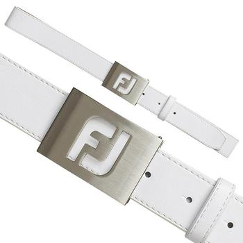 Footjoy FJ Logo Leather Belt White (69336)