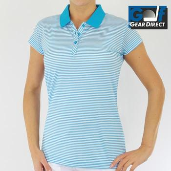 Green Lamb Ladies Striped Mercerised Shirt Lagoon