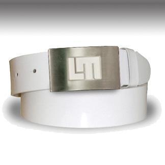 Loudmouth Golf Patent Leather Belt White