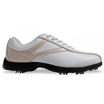 Callaway Novas Ladies Golf Shoes - White/Bone