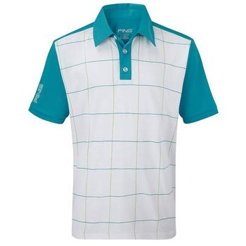 Ping Collection Cairns Junior Polo Shirt White Multi (P03044)
