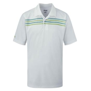 Ping Collection Wylie Junior Polo Shirt White Green (P03027) (P12)