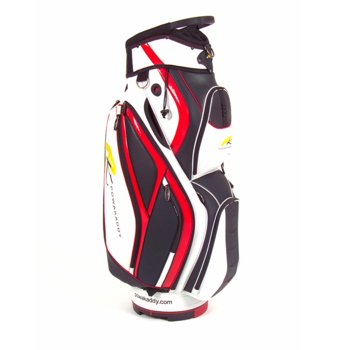 Powakaddy PVC Premium Cart Bag White/Chilli Red