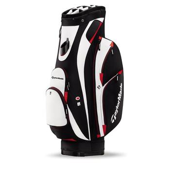 Taylormade San Clemente Golf Cart Bag (Black/White/Red) + FREE CAP!