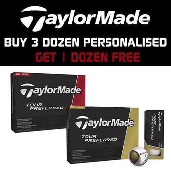 Taylormade Tour Preferred Personalised Golf Balls 3 Dozen + 1 Dozen FOC
