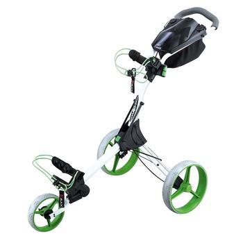 Big Max IQ+ 3 Wheel Golf Trolley - White/Lime