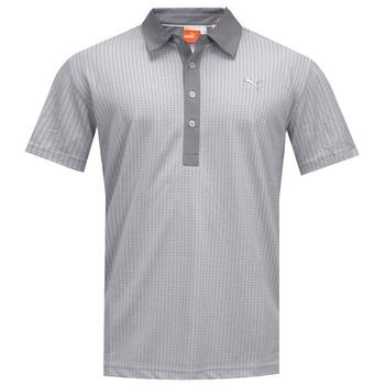 Puma Jacquard Pattern Golf Polo Shirt