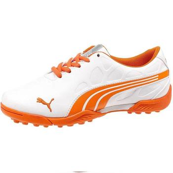Puma Golf Junior Bio Fusion Golf Shoes - White/Vibrant Orange