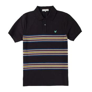 Lyle & Scott Placed Stripe Polo Shirt