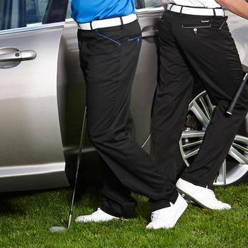 Stromberg Mijas 24 Pro Stretch Funky Golf Trouser - Black/Blue - 32/29