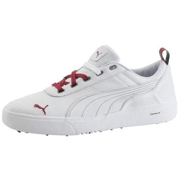 Puma Golf Monolite PL Golf Shoes - White/Pomegranate - Size: 7