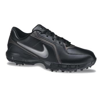 Nike Power Player III Golf Shoes Black/Silver/Dark Grey – Size: 10