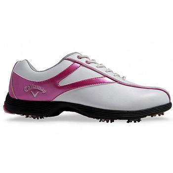 Callaway Novas Ladies Golf Shoes - White/Pink - Size: 4