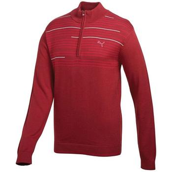 Puma Golf 1/4 zip Novelty Sweater - Biking Red