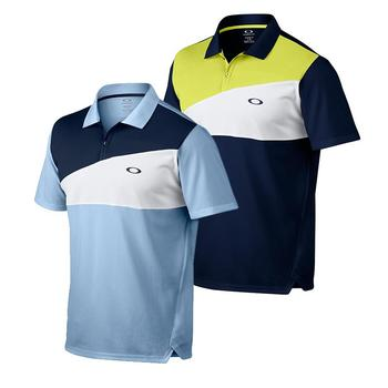 Oakley Junior Greene Short Sleeve Polo Shirt, Oxford Blue Small