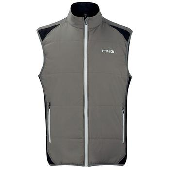 Ping Collection Barrier Water Resistant Gilet - Ash/Black - Size: Medium