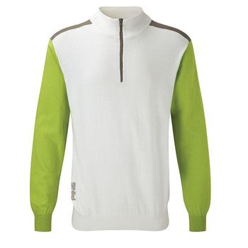 Ping Collection Bowland Golf Top - White/Green - Size: Small