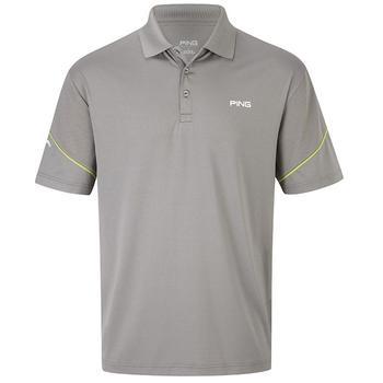 Ping Collection Byron Polo Shirt - Ash - Size: Small