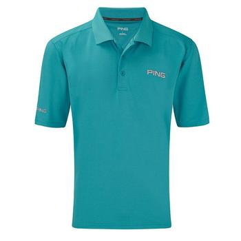 Ping Collection Eagle Tour Golf Polo Shirt (P02978) - Cyan - Size: Small