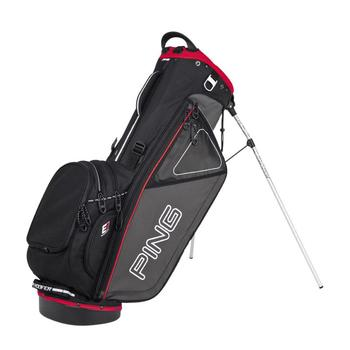 Ping Hoofer Stand Bag - Charcoal/Black/Red