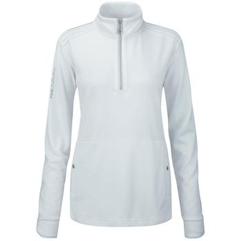 Ping Collection Indiana Ladies Zip Neck Top (P93226) White - Size:08