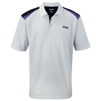 Ping Collection Morgan Polo Shirt - White/Plum - Size: Small