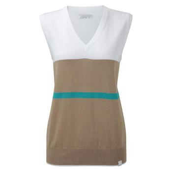 Ping Collection Peggy Ladies Tank Top (P93223) Clay/White - Size:12