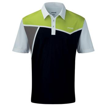 Ping Collection Rockaway Polo Shirt - Black/Green - Size: Large