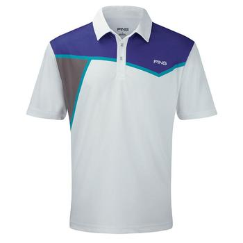 Ping Collection Rockaway Polo Shirt - White/Plum - Size: Small