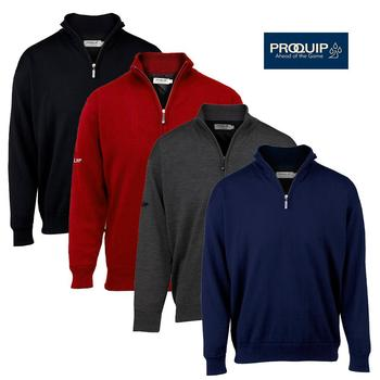Proquip Lined Merino Zip Neck Sweater